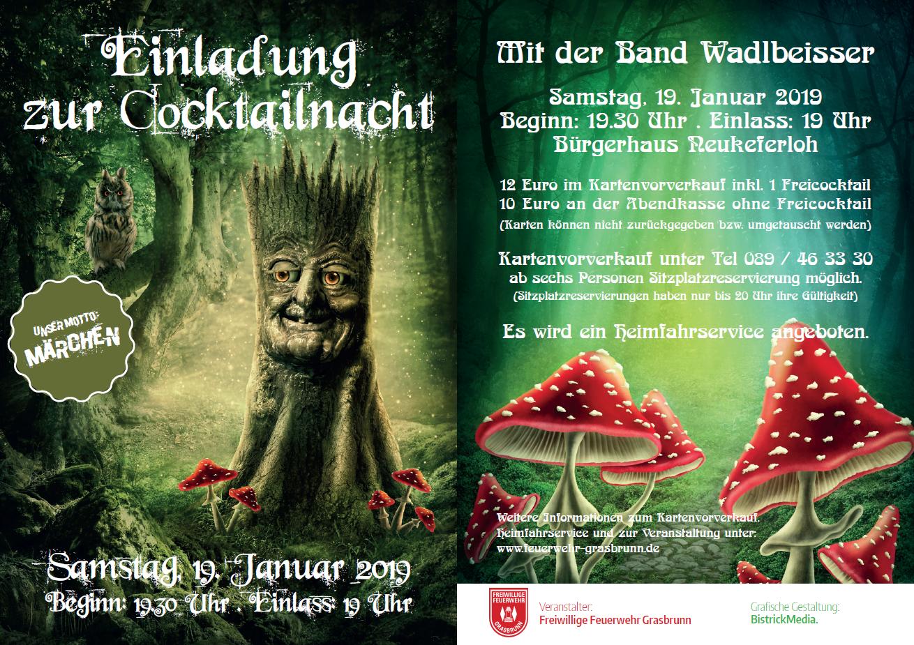 Cocktailnacht 2019 @ Bürgerhaus Neukeferloh